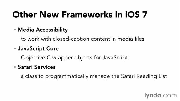 New and updated frameworks in iOS 7: iOS 7 SDK New Features