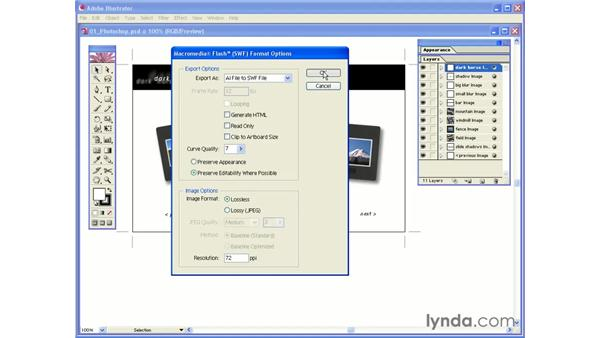 exporting layers as a single SWF: Photoshop CS and Flash MX 2004 Integration