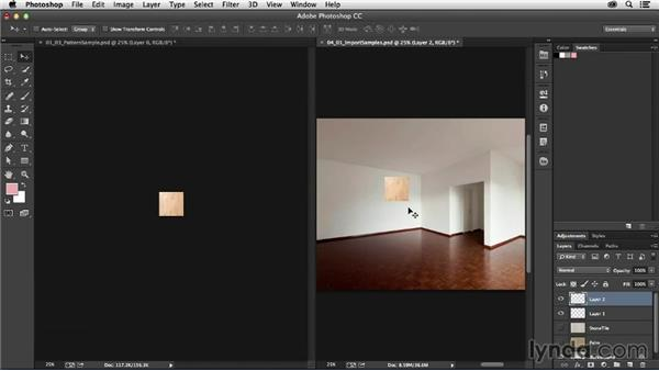 Selecting your wall and floor textures: Photoshop for Interior Design: Living Room Composite