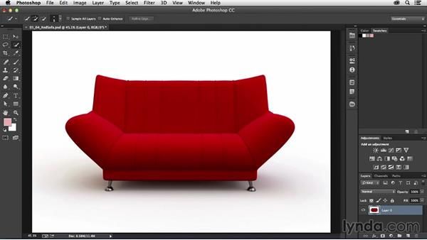 Selecting furniture and fixtures: Photoshop for Interior Design: Living Room Composite