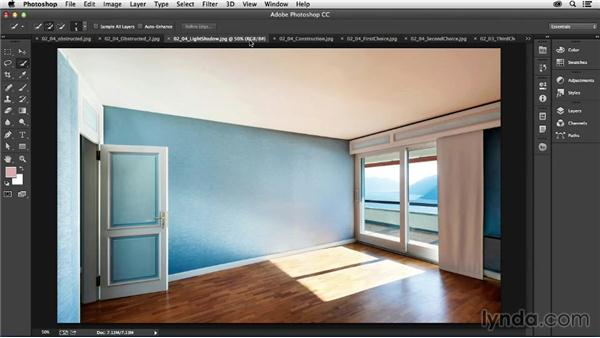 Selecting the right image: Photoshop for Interior Design: Living Room Composite