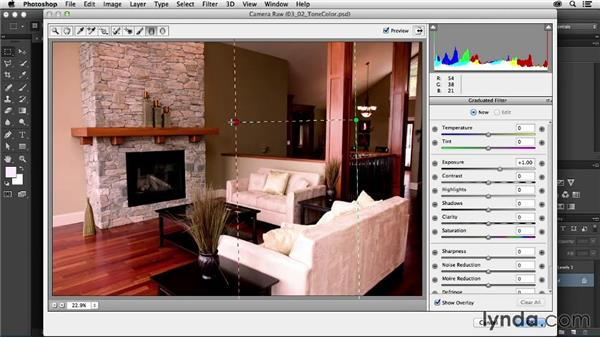 Tonal and color corrections: Photoshop for Interior Design: Living Room Composite