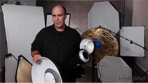 Strobe lighting offers many modifiers to shape light: Up and Running with Studio Strobes
