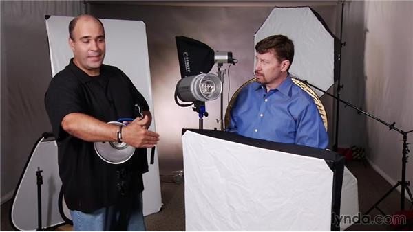 Reflectors and diffusers: Up and Running with Studio Strobes
