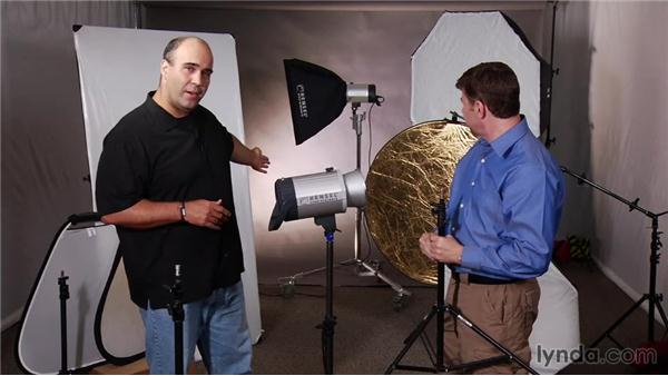 Lighting stands and booms: Up and Running with Studio Strobes