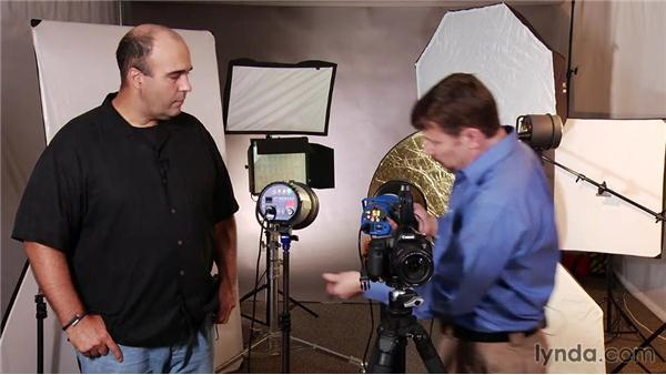 Using a wireless transmitter: Up and Running with Studio Strobes