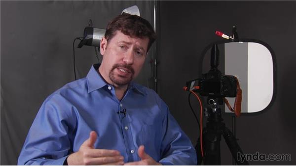 Setting an initial aperture and ISO: Up and Running with Studio Strobes