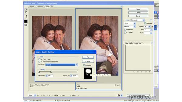 using two different quality settings: Photoshop CS and Flash MX 2004 Integration
