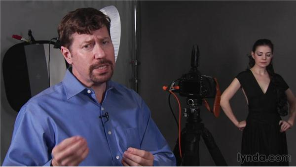 Using a light meter in camera: Up and Running with Studio Strobes