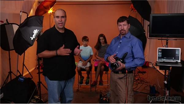 Four-light setup: Up and Running with Studio Strobes