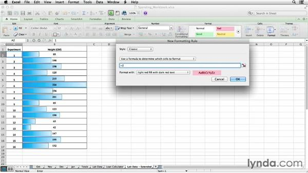 Double-checking values with conditional formatting: Office for Students
