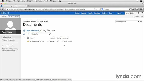 Using SkyDrive to back up papers and assignments: Office for Students