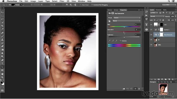 Actions and Layer management: Photoshop Retouching Techniques: Skin