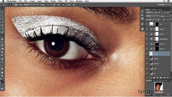 Panning out and making surface adjustments: Photoshop Retouching Techniques: Skin