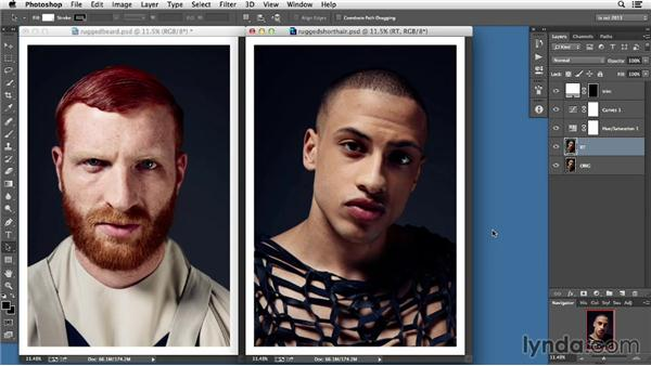 Rugged or polished?: Photoshop Retouching Techniques: Skin