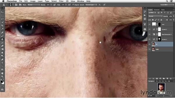 Evening out facial hair: Photoshop Retouching Techniques: Skin
