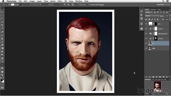 Enhancing facial structure with Liquify: Photoshop Retouching Techniques: Skin