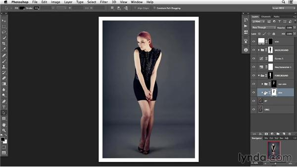 Structuring adjustment layers: Photoshop Retouching Techniques: Skin