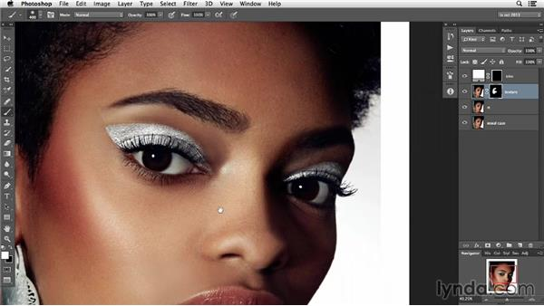 Restoring texture lost on challenging skin work: Photoshop Retouching Techniques: Skin