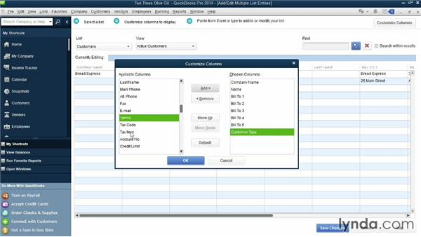 Importing customers from another program: QuickBooks Pro 2014 Essential Training