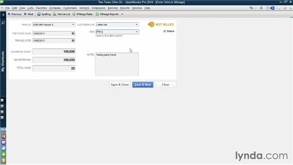 Entering time and mileage against jobs: QuickBooks Pro 2014 Essential Training