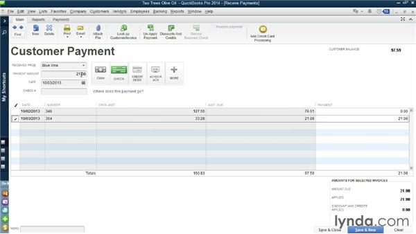 Fixing mismatched data: QuickBooks Pro 2014 Essential Training