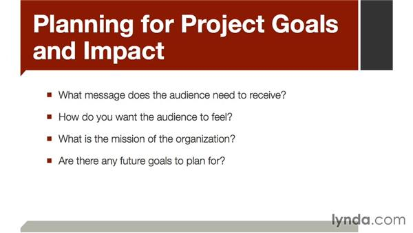 Planning for project goals and impact: The Art of Video Interviews