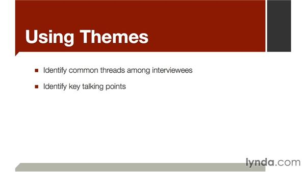 Using themes: The Art of Video Interviews