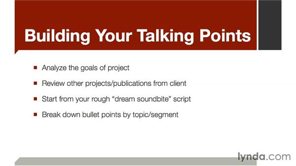 Building your talking points: The Art of Video Interviews