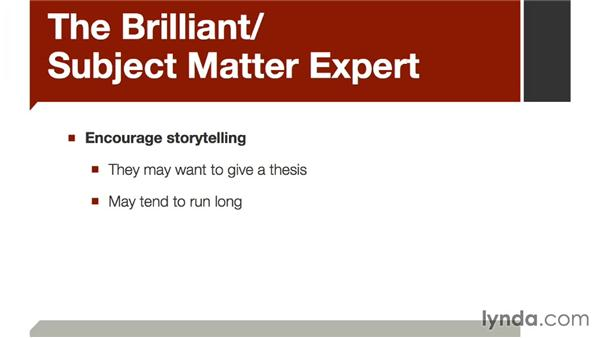 The brilliant subject matter expert: The Art of Video Interviews