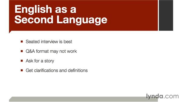 English as a second language: The Art of Video Interviews