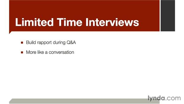 Limited-time interviews: The Art of Video Interviews