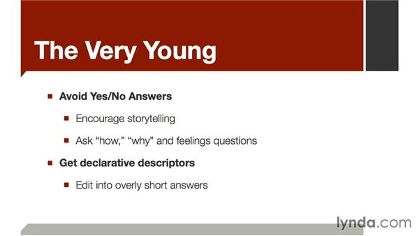 The very young: The Art of Video Interviews