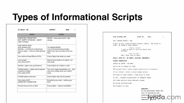 Identifying types of informational scripts for Explainer video script template