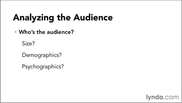 Analyzing the audience: Video Script Writing