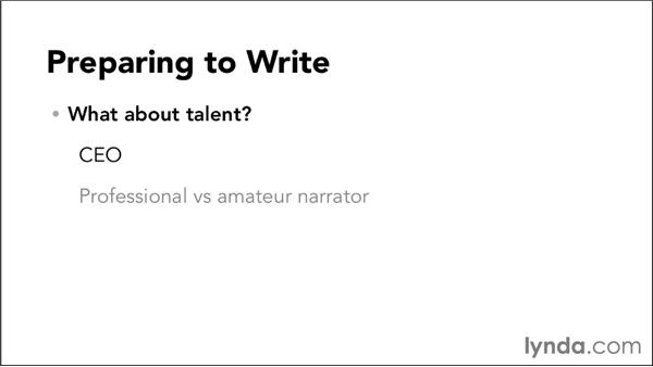 Preparing to write: Video Script Writing