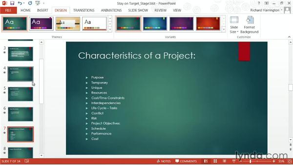 Tips on changing templates and themes: PowerPoint: From Outline to Presentation