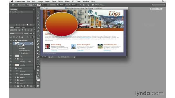 Converting layer styles (effects) to CSS: Design the Web: Getting CSS from Photoshop