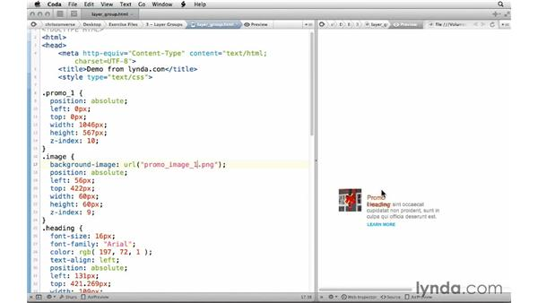 Getting CSS for multiple layers: Design the Web: Getting CSS from Photoshop