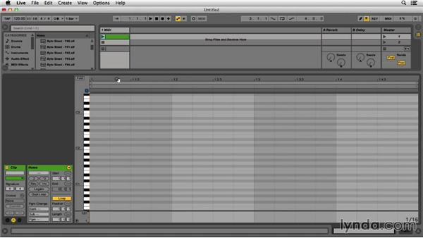 Using a piano roll: Programming Beats in Ableton Live 9