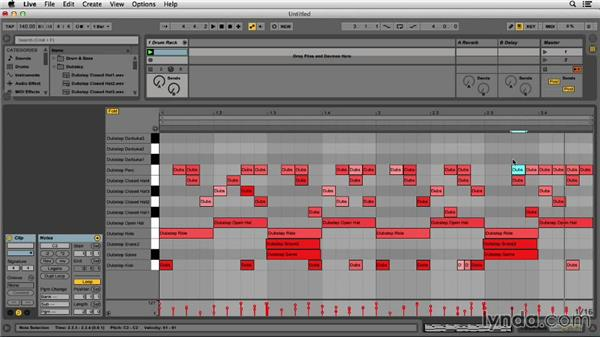 Adding extra percussion sounds: Programming Beats in Ableton Live 9