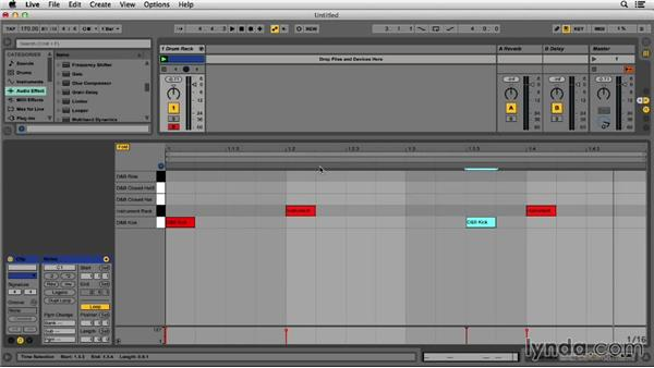 Sequencing the kick, snare, and hats: Programming Beats in Ableton Live 9