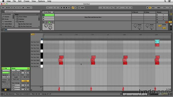 Sequencing the kick, snare, and hats in hip-hop: Programming Beats in Ableton Live 9