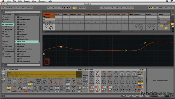 Using an EQ on the drums: Programming Beats in Ableton Live 9