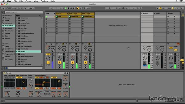 Adding reverb: Programming Beats in Ableton Live 9