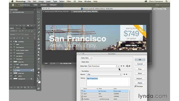 Preview the final project: Design the Web: Automating Web Graphics