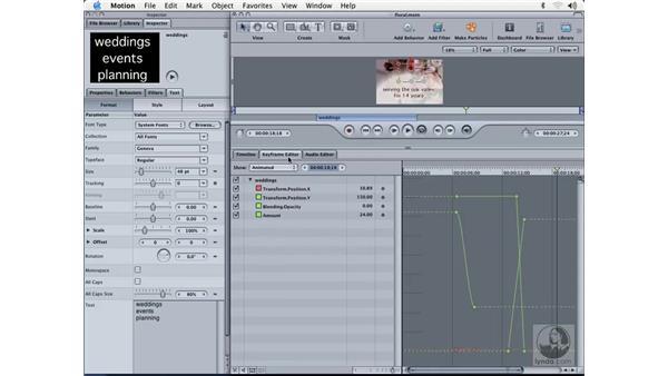 keyframe editor: Learning Motion
