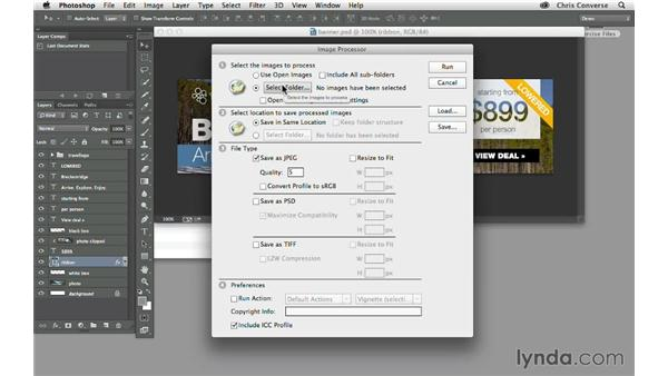 Exporting graphics from data sets: Design the Web: Automating Web Graphics