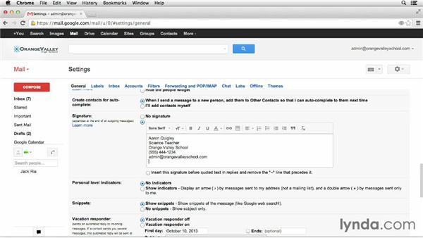Creating a school signature: Google Apps for Educators