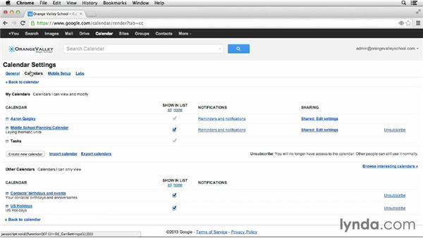 Managing alerts: Google Apps for Educators